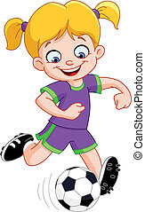 Chica del fútbol