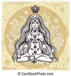 Chica en meditación