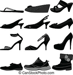 Chica mujer zapatos de mujer