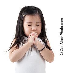 Chica que reza