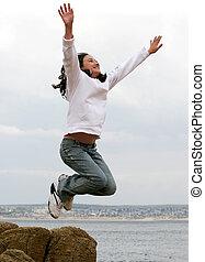 Chica saltarina