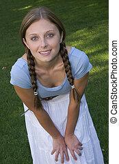 Chica sonriente