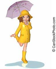 Chica Toon, día lluvioso