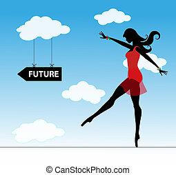 Chica y futuro