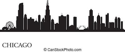 Chicago City Skyline silueta