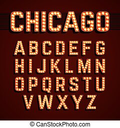 chicago, luces, fuente, broadway