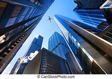 Chicago mirando hacia arriba