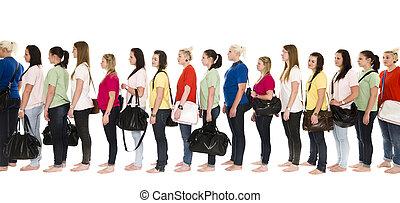 Chicas en fila