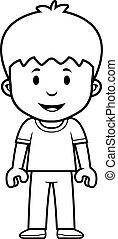 Chico de dibujos animados feliz
