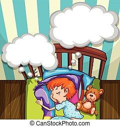 Chico durmiendo en la cama