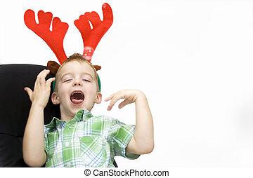 Chico en Navidad