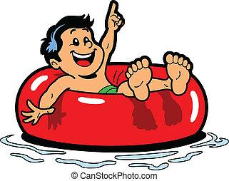Chico flotante de tubo interior