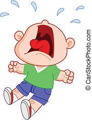 Chico llorando