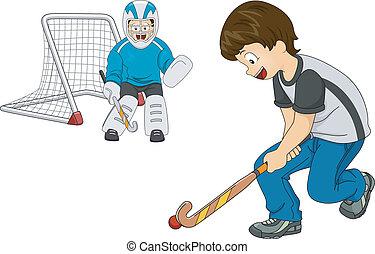 Chicos de hockey interior