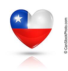 Chile del amor, icono de la bandera del corazón