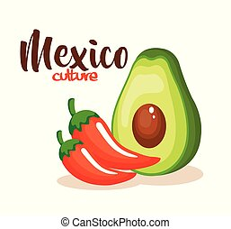Chile mexicano con aguacate