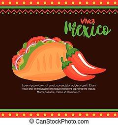 Chile mexicano con taco