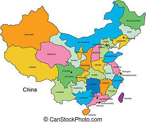 China con distritos administrativos