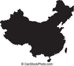 china, vector, ilustración, mapas