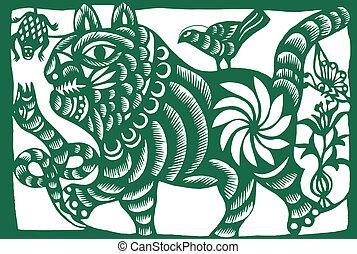 chino, tigre, zodíaco