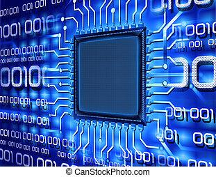 Chip de ordenador binario