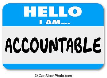 chivo expiatorio, nombre, accountable, etiqueta, responsabilidad, hola