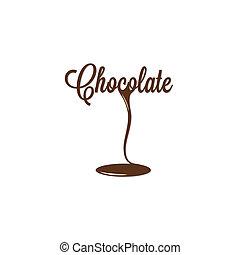 chocolate, aislado, señal