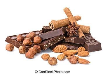 Chocolate con diferentes aditivos