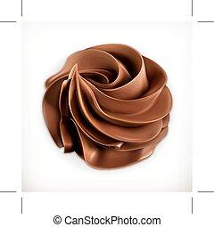 chocolate, crema batida