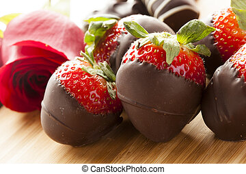 Chocolate Gourmet cubierto de fresas