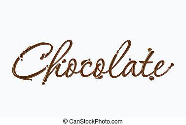 chocolate, texto