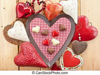 Chocolates en forma de corazón