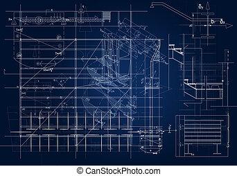 cianotipo, arquitectónico