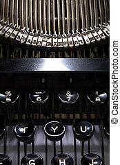 cicatrizarse, máquina de escribir