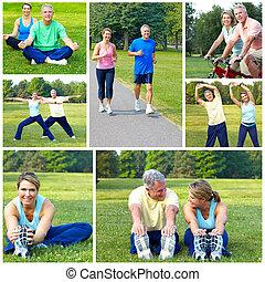 ciclismo, condición física, jogging