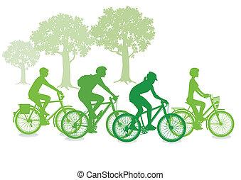 ciclismo, verde