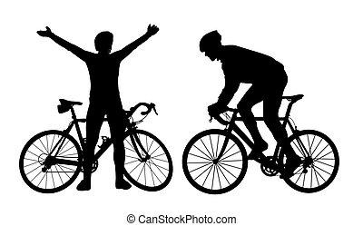 ciclista, siluetas