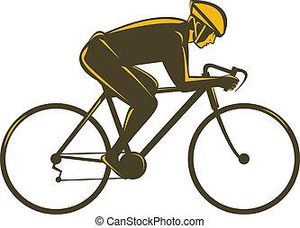 ciclista, vista lateral