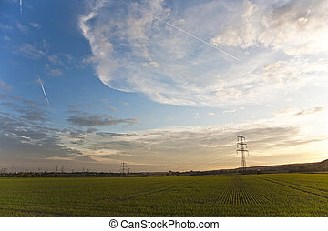 Cielo dramático con nubes