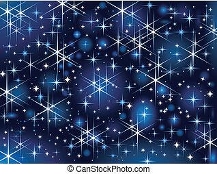 Cielo estrellado, brillo navideño