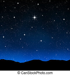 Cielo estrellado por la noche