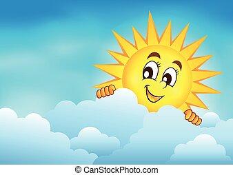Cielo nublado con sol al acecho 3
