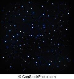 cielo, plano de fondo, vector, estrellas, cósmico