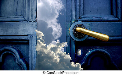cielo, puerta