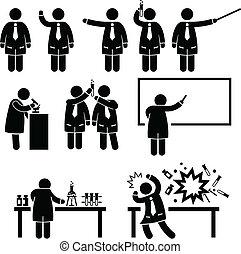 ciencia, profesor, científico, laboratorio