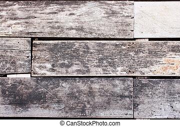 Cierra el suelo de la superficie hecho de madera
