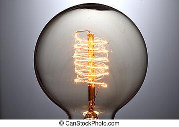 Cierra la bombilla de luz