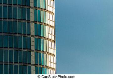 Cierra rascacielos curvados