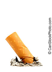 cigarrillo, aislado, butt