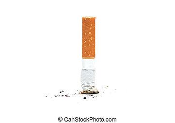 Cigarrillos en pan blanco